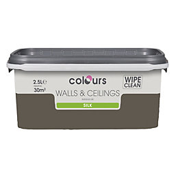 Colours Chocolate Torte Silk Emulsion Paint 2.5L