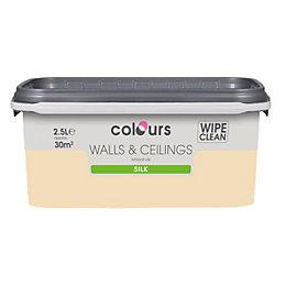 Colours Custard Cream Silk Emulsion Paint 2.5L