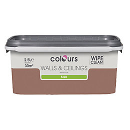 Colours Fired Brick Silk Emulsion Paint 2.5L