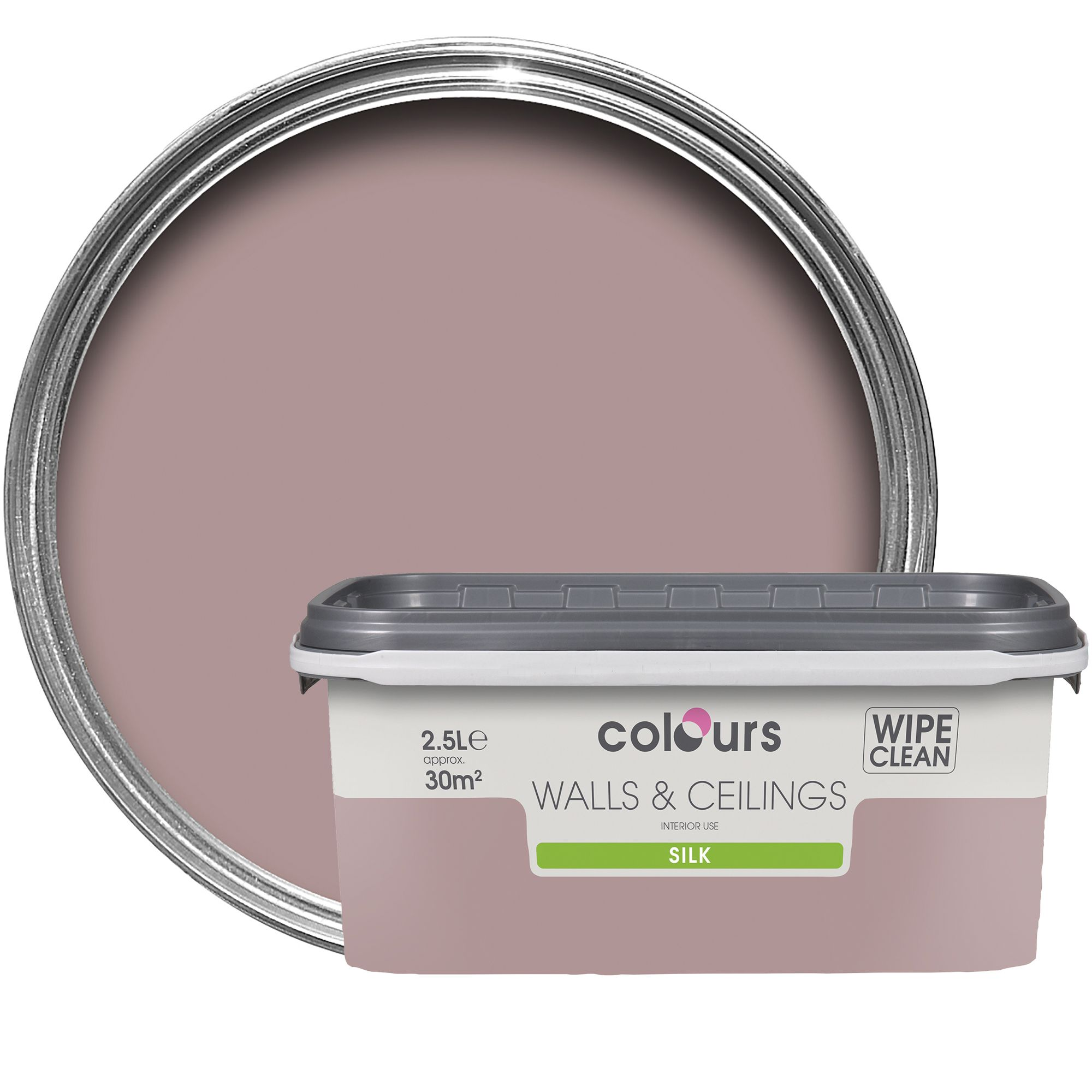 Colours Standard Muted Rose Silk Emulsion Paint 2.5l