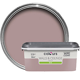 Colours Muted Rose Silk Emulsion Paint 2.5L