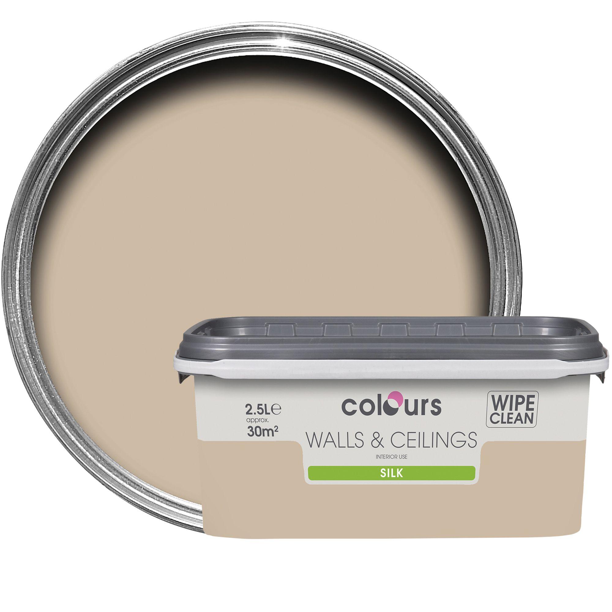 Colours Taupe Silk Emulsion Paint 2.5l