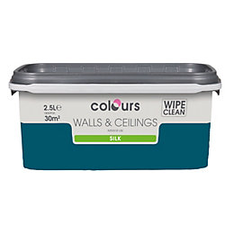 Colours Teal Temptation Silk Emulsion Paint 2.5L