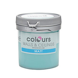 Colours Barbados Blue Matt Emulsion Paint 50ml Tester