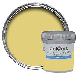 Colours Buttercup Matt Emulsion Paint 50ml Tester Pot