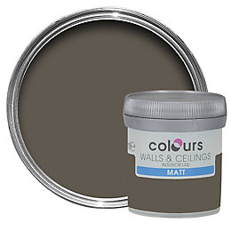 Colours Chocolate Torte Matt Emulsion Paint 50ml Tester