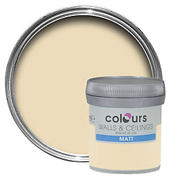 Colours Tester Custard Cream Matt Emulsion Paint 0.05L