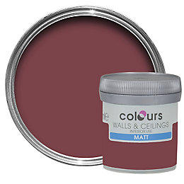 Colours Merlot Matt Emulsion Paint 50ml Tester Pot