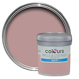 Colours Muted Rose Matt Emulsion Paint 50ml Tester