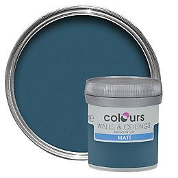Colours Teal Temptation Matt Emulsion Paint 50ml Tester