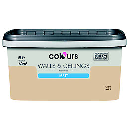 Colours Cafe Au Lait Matt Emulsion Paint 5L