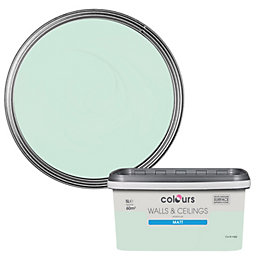 Colours Duck Egg Matt Emulsion Paint 5L