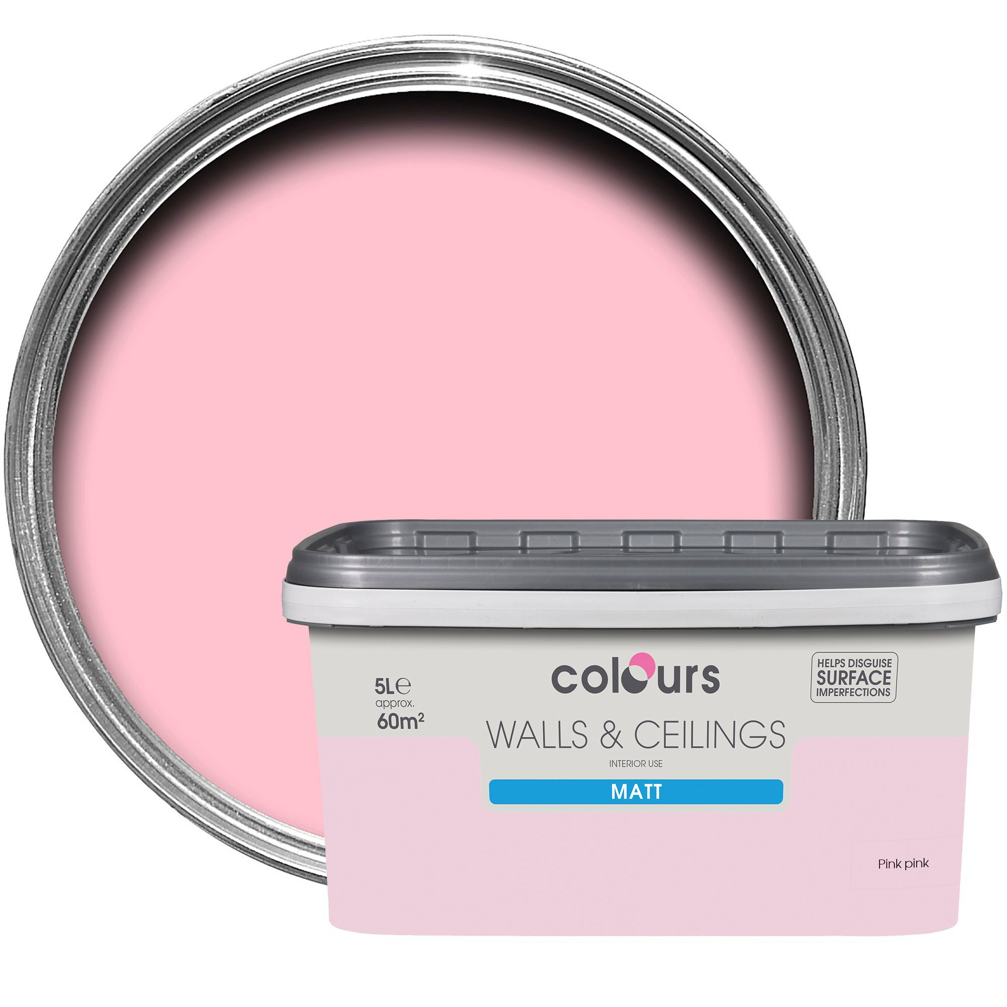 Colours Standard Pink Pink Matt Emulsion Paint 5l