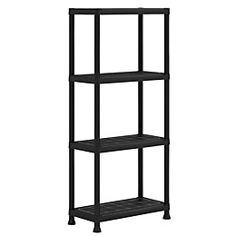 Form Flexi-Store Black 4 Tier Shelving Unit (H)1350mm