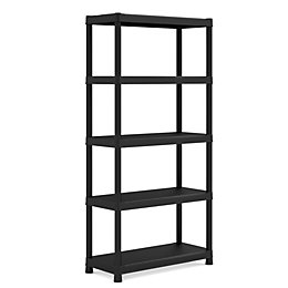 Form Flexi-Store Black 5 Tier Premium Shelving Unit