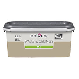 Colours Choco Latte Silk Emulsion Paint 2.5L