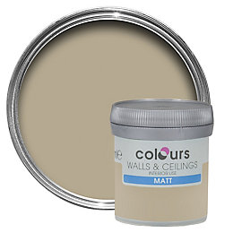 Colours Choco Latte Matt Emulsion Paint 50ml Tester
