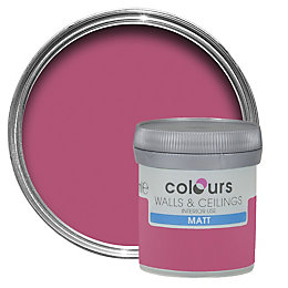 Colours Petunia Matt Emulsion Paint 50ml Tester Pot