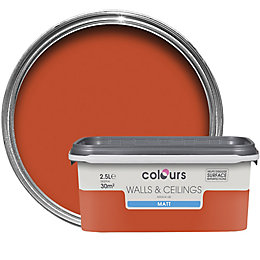 Colours Pumpkin Matt Emulsion Paint 2.5L
