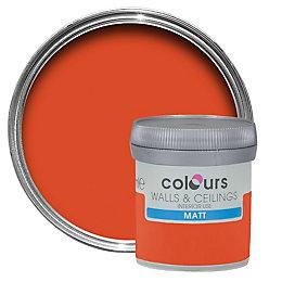 Colours Pumpkin Matt Emulsion Paint 50ml Tester Pot