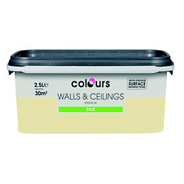 Colours Soft Lemon Silk Emulsion Paint 2.5L