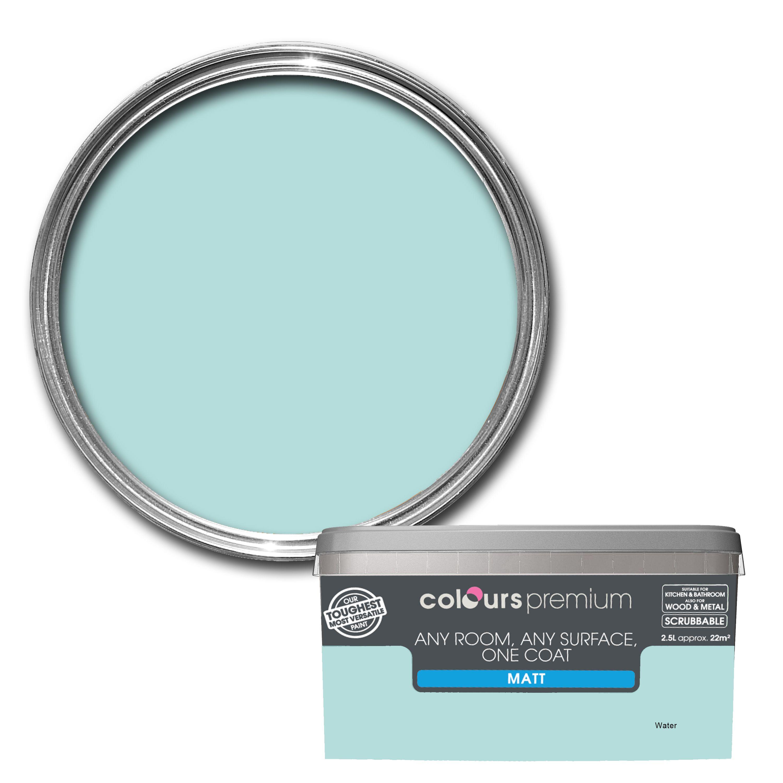 Colours Premium Water Matt Emulsion Paint 2 5l Departments Diy At B Q