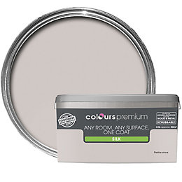 Colours Premium Pebble Shore Silk Emulsion Paint 2.5L