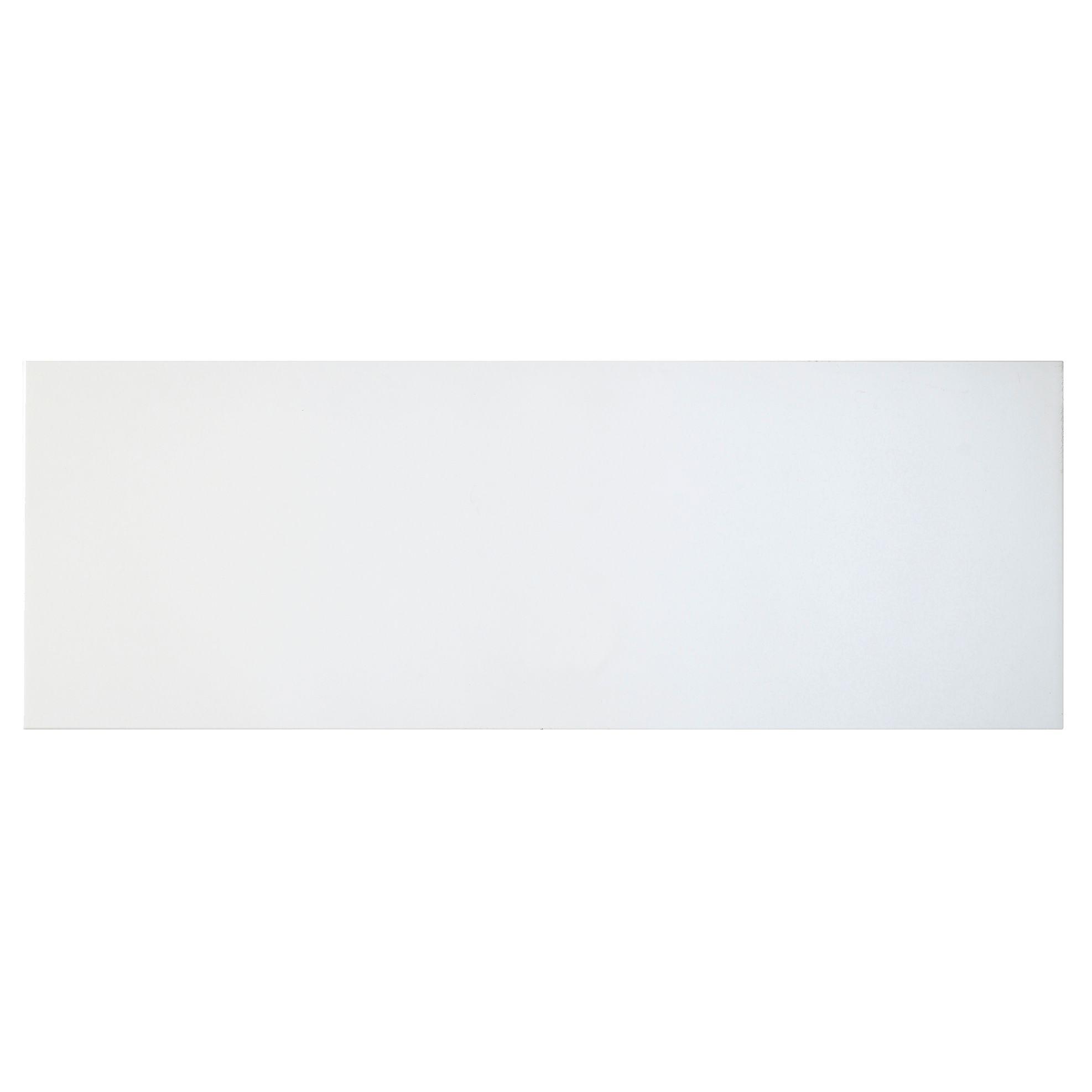 Cooke & Lewis Raffello High Gloss White Slab Pan Drawer Front / Bi-fold Door (w)1000mm