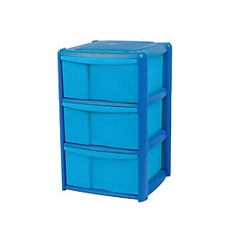 Form Drawer Towers Blue Plastic Drawer Tower Unit