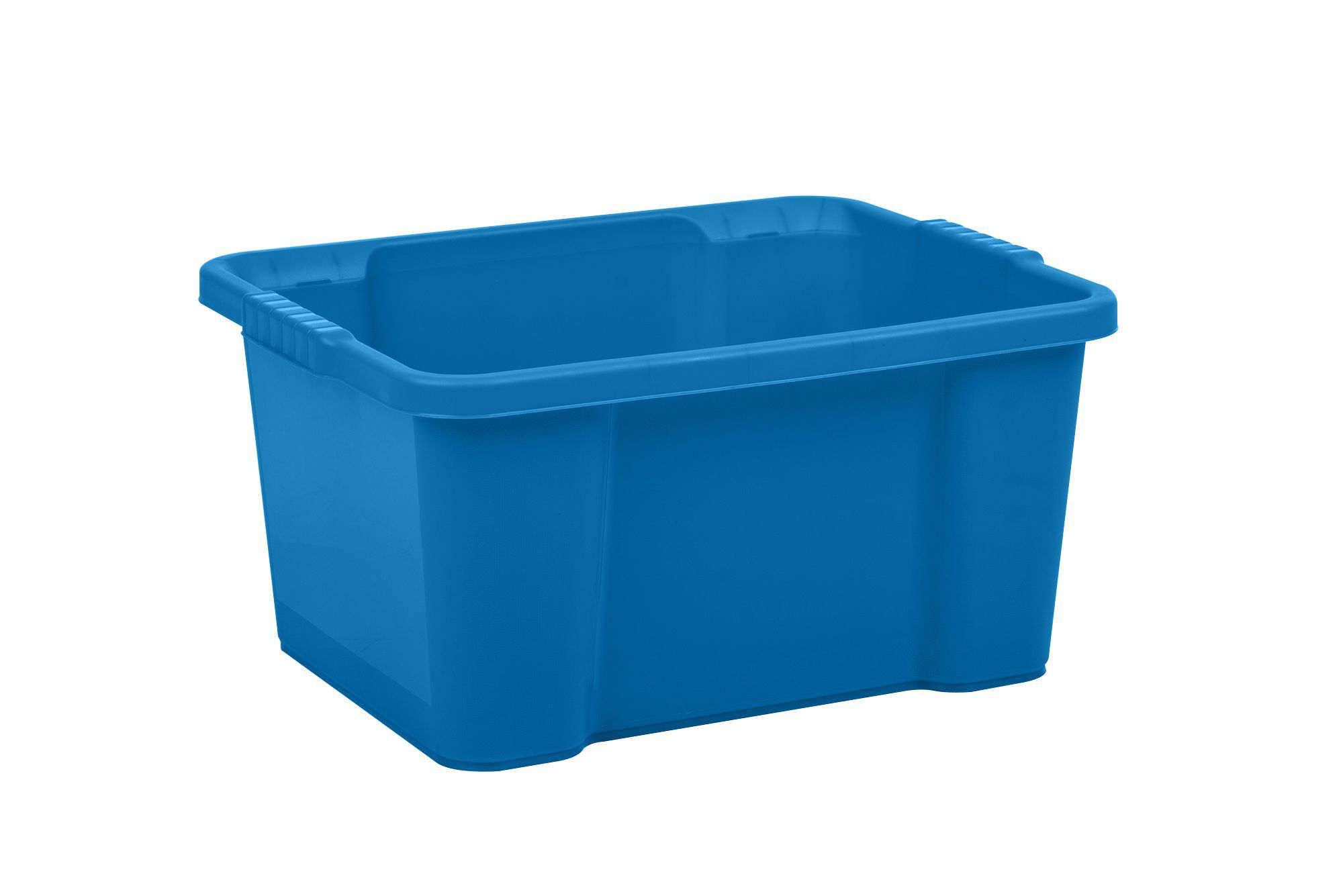 Recycled plastic storage boxes - Form Stack Store Blue 30l Plastic Storage Box Departments Diy At B Q