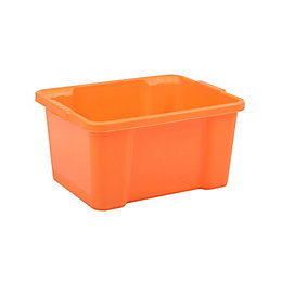Form Orange 30L Plastic Storage Box