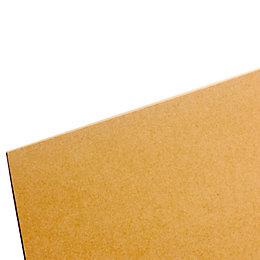 Hardboard Sheet (Th)3mm (W)607mm (L)1220mm Pack 10