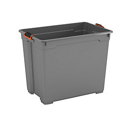 Form Flexi-Store Grey XL 80L Plastic Storage Box