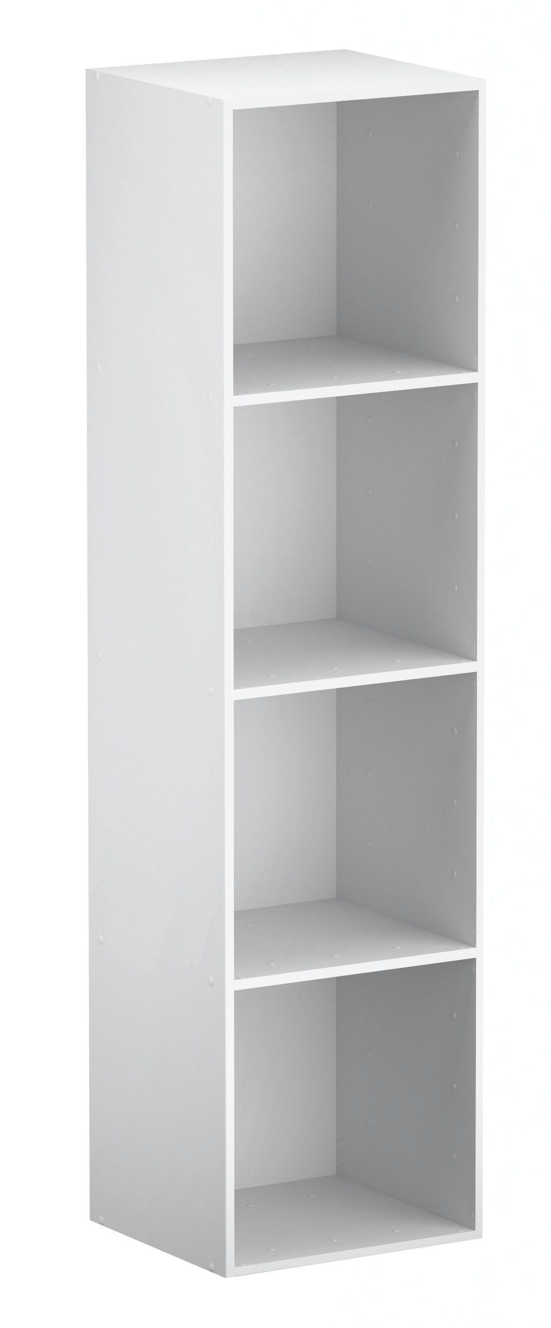 Bathroom Cabinets Uk Bq Form Konnect White 4 Cube Shelving Unit H1372mm W352mm