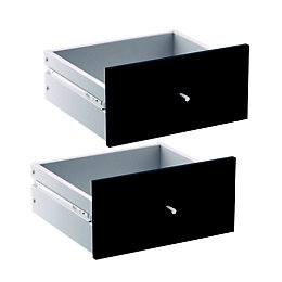 Form Konnect Black 2 Drawer Set (W)322mm
