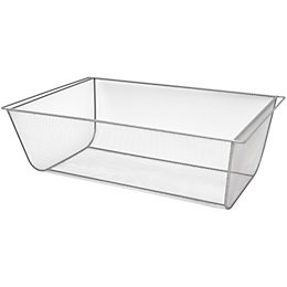 Form Twinslot Silver Storage Basket (W)580mm (L)586 mm