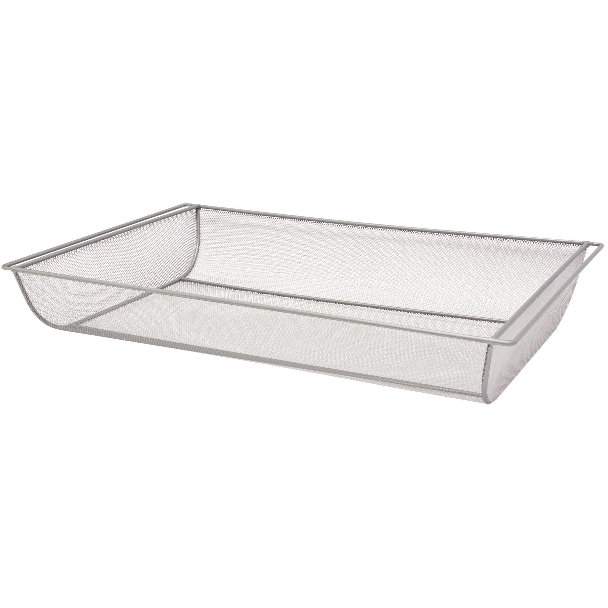 Form Twinslot Silver Storage Basket (w)580mm (l)586 Mm