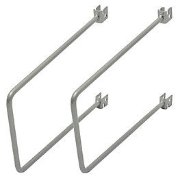 Form Twinslot Matt Silver Flexible Support Kit (L)26