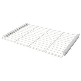 White Wire Shelf (L)580mm (D)380mm