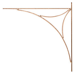 Form Copper Effect Steel Shelf Bracket (D)220mm
