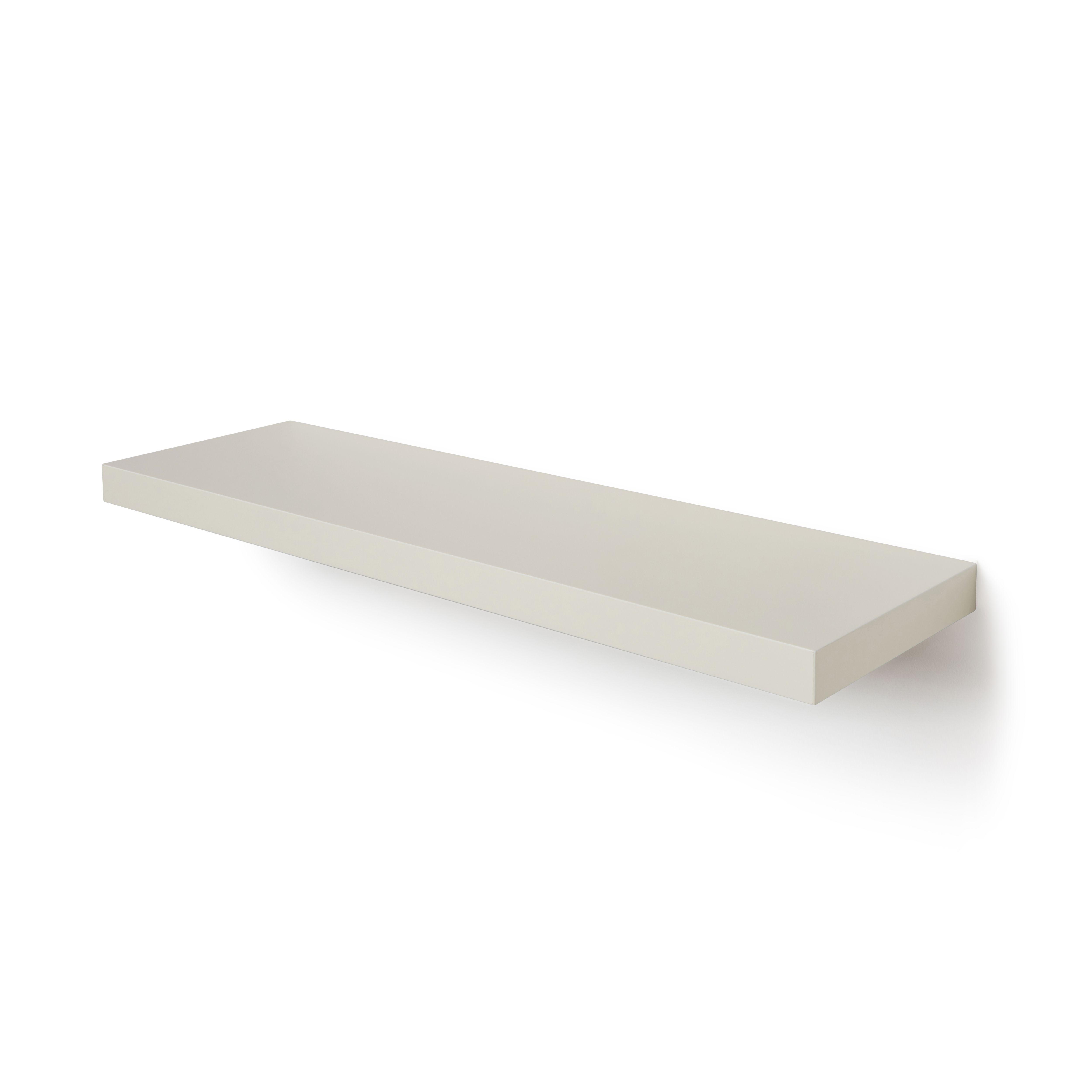 Cream Gloss Floating Shelf (L)802mm (D)237mm   Departments ...