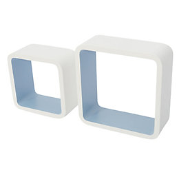 Blue Cube Shelf (L)261mm (D)261mm, Pack of 2