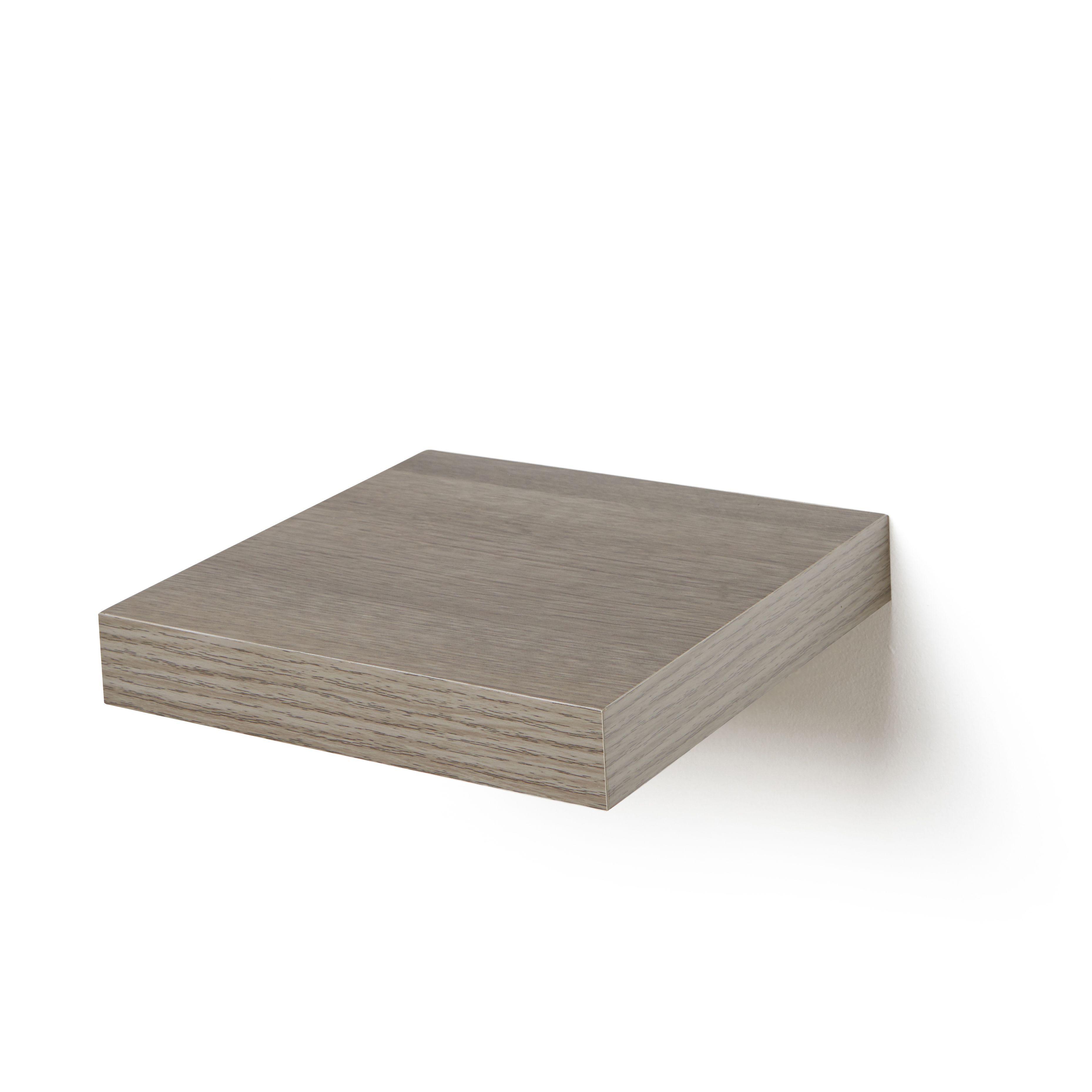 Grey Oak Effect Floating Shelf (l)237mm (d)237mm