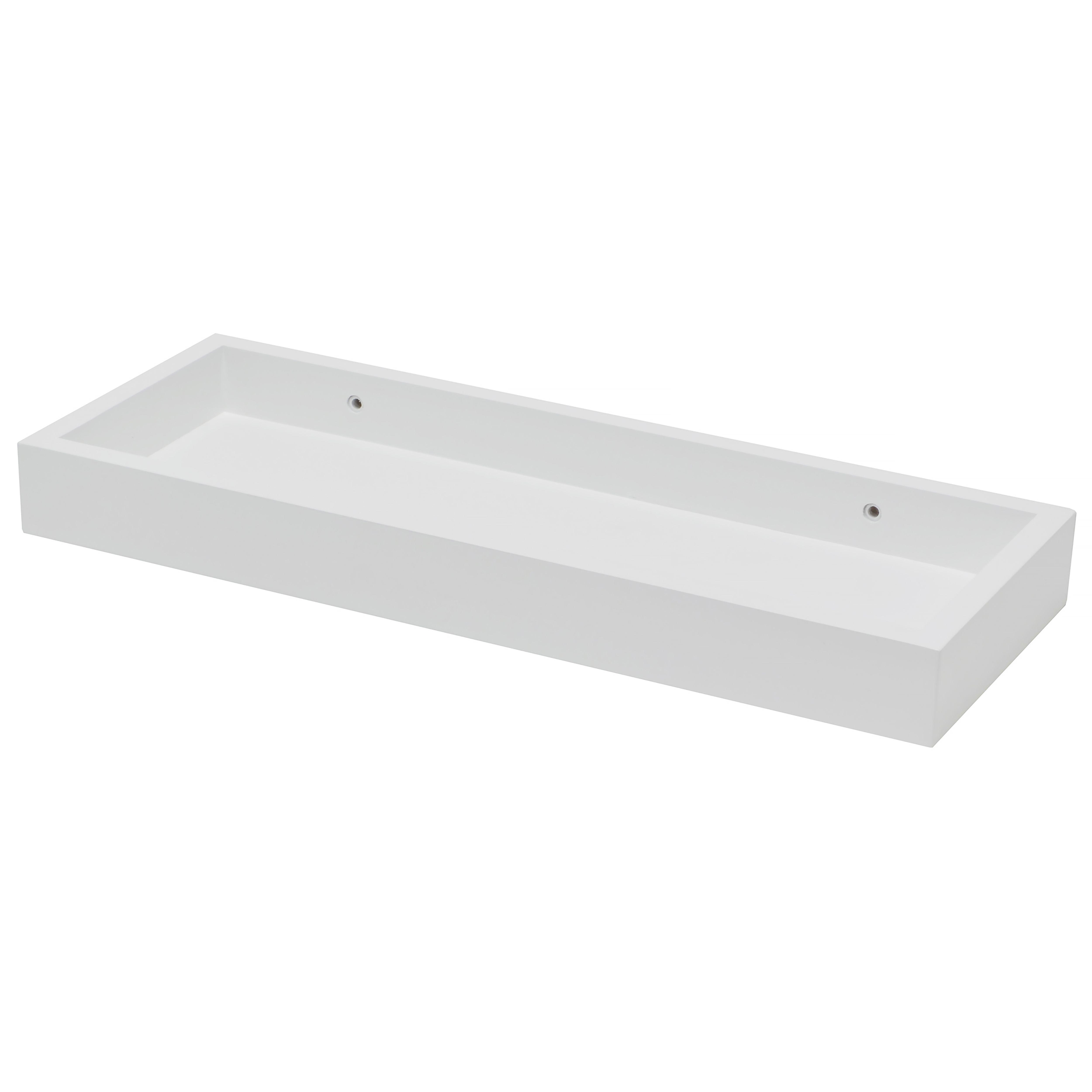 white matt storage shelf l 401mm d 150mm departments. Black Bedroom Furniture Sets. Home Design Ideas