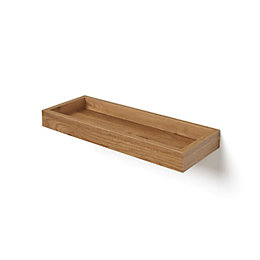 Natural Oak Effect Storage Shelf (L)401mm (D)150mm