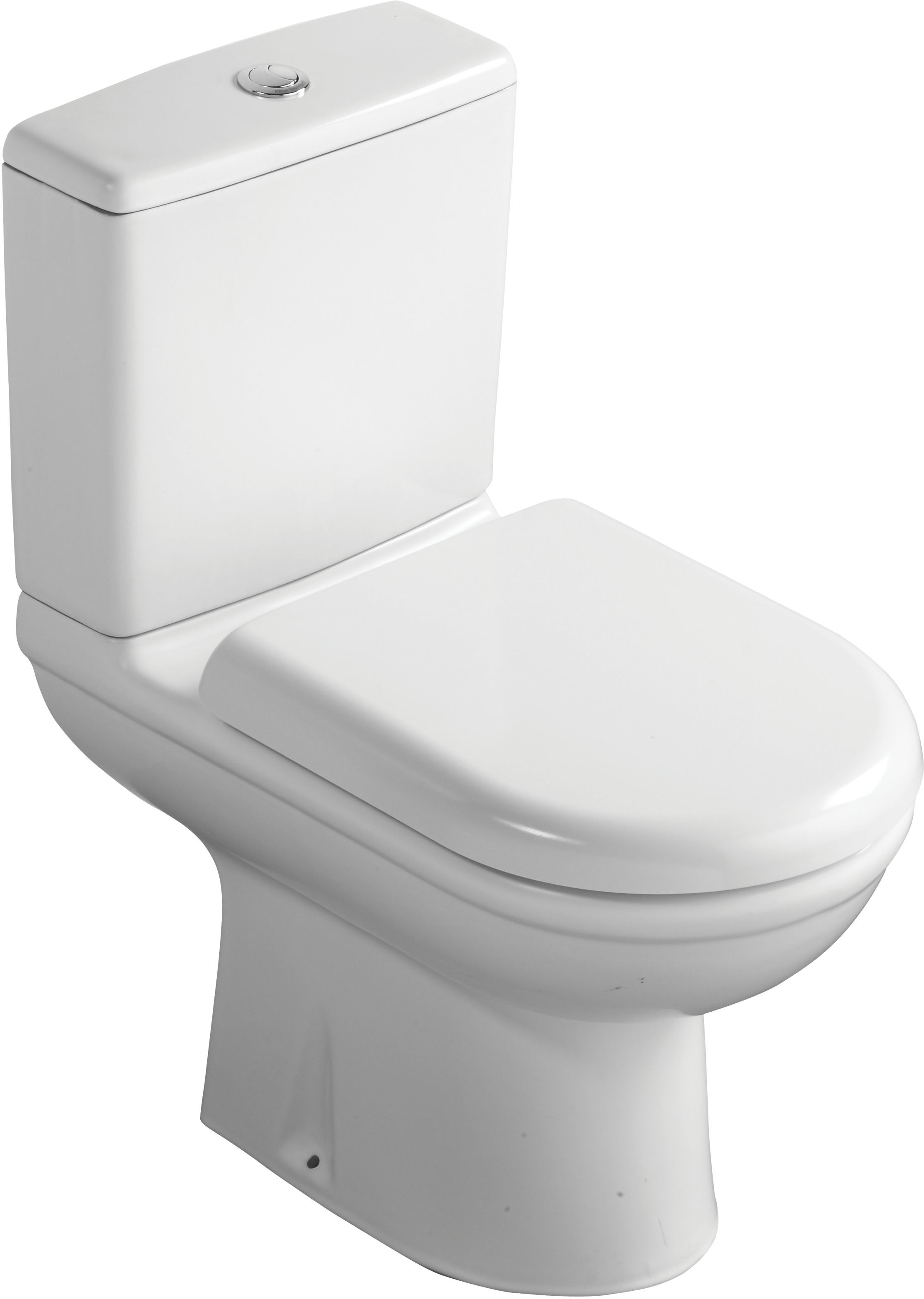 Ideal standard della close coupled toilet with soft close for B q bathroom accessories