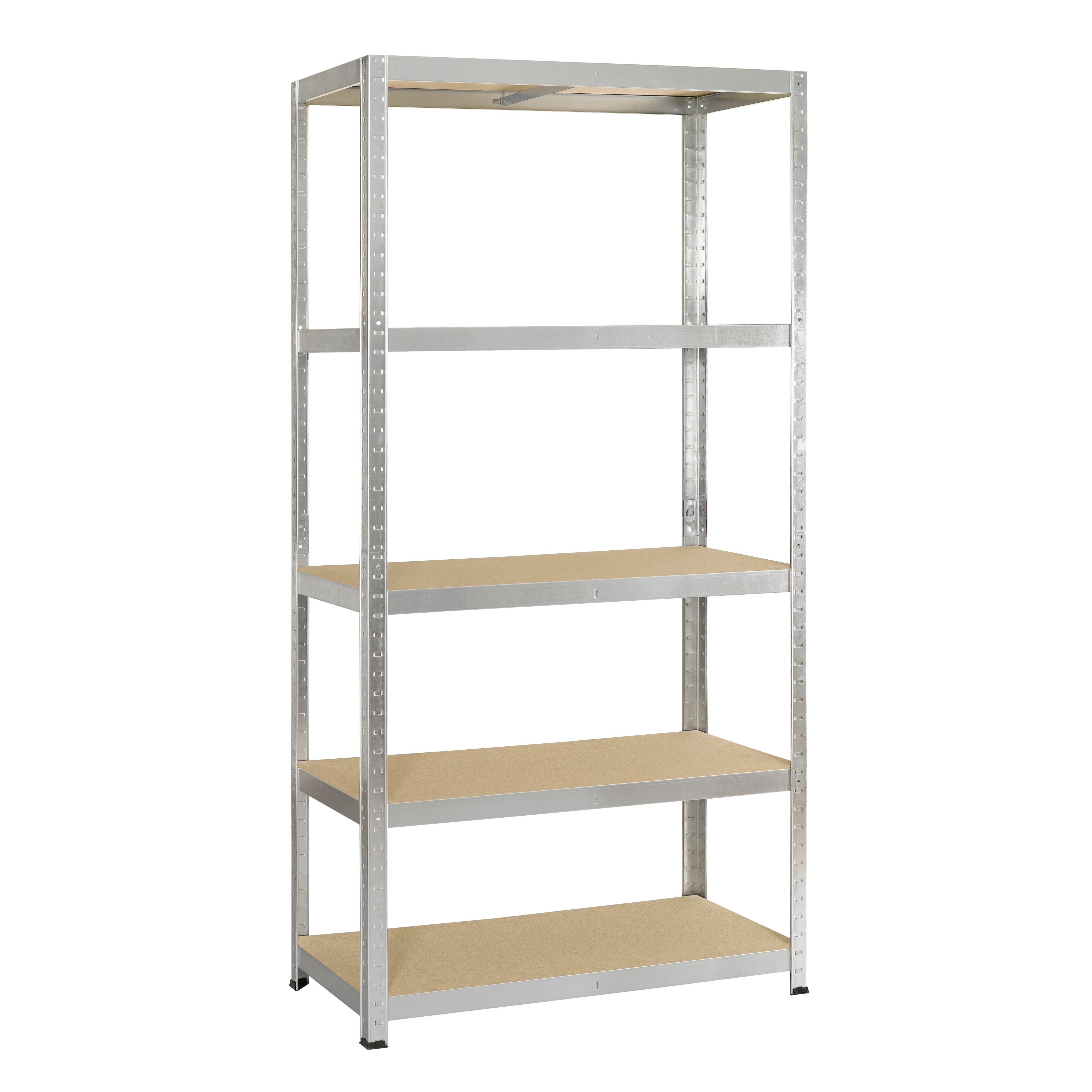 avasco 5 tier metal shelving unit departments diy at b q. Black Bedroom Furniture Sets. Home Design Ideas