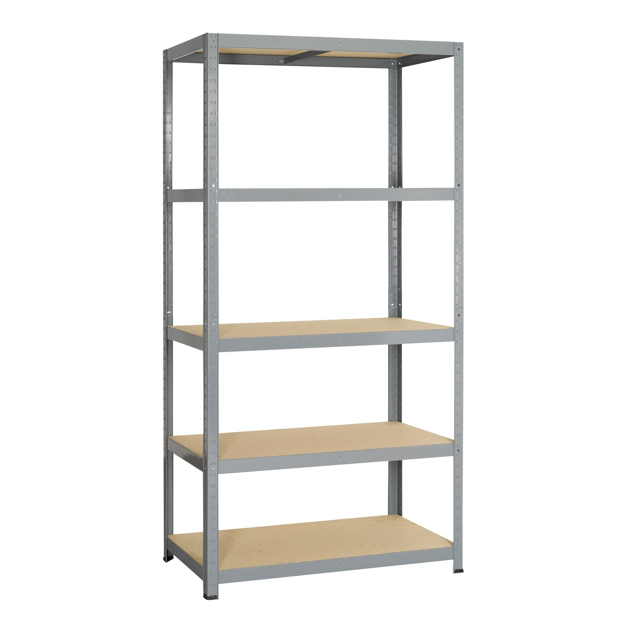 BampQ 5 Shelf Chipboard amp Steel Shelving Unit Departments DIY At