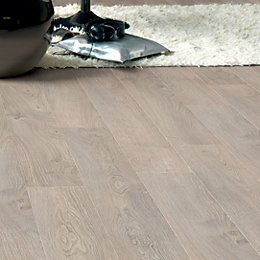 Calando Light Grey Oak Effect Laminate Flooring 1.59