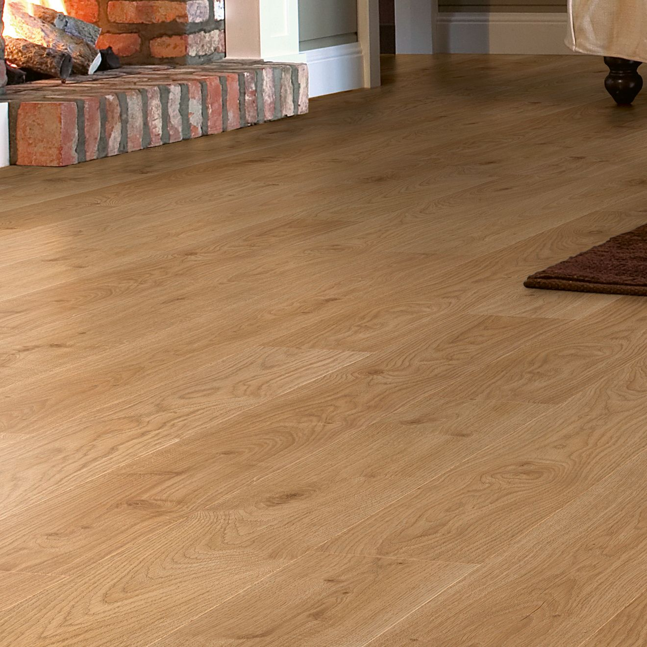 New boxed andante natural white oak effect laminate for White laminate flooring